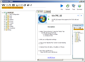 WinBuilder-What a neat way to make a WinFE CD