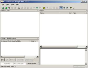 FTK Imager 3.0 in the Windows Forensic Environment