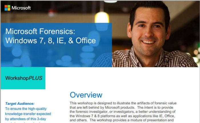 Forensic Training with WinFE.  Cool.